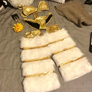 Xhilaration Intimates & Sleepwear - ✨Be a Perfect Christmas Intimate gold suite S/M✨